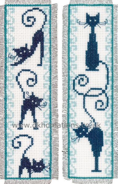 Cheerful Cats Bookmarks  Cross Stitch Kit